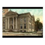 Biblioteca, vintage 1909 de Binghamton NY Postales