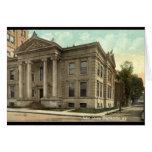 Biblioteca, vintage 1909 de Binghamton NY Tarjetas