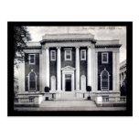 Biblioteca, vintage de New Haven, Connecticut Tarjeta Postal