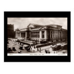 Biblioteca, vintage de New York City c1910 Postal