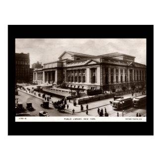 Biblioteca, vintage de New York City c1910 Postales