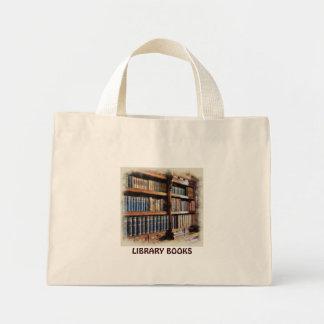 Biblioteca y libros medievales de las ilustracione bolsa tela pequeña