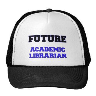 Bibliotecario académico futuro gorros bordados