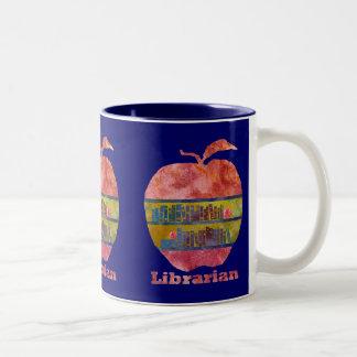 Bibliotecario Apple Taza De Dos Tonos