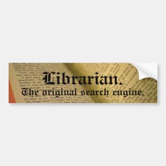 Bibliotecario Etiqueta De Parachoque