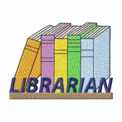 Bibliotecario Sudadera Bordada Con Capucha