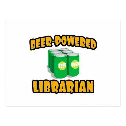 Bibliotecario Cerveza-Accionado Postales