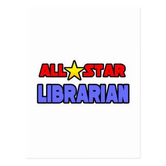 Bibliotecario de All Star Tarjetas Postales