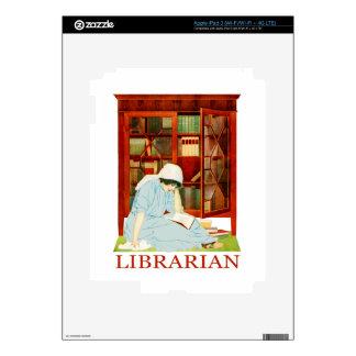 Bibliotecario de Coles Phillips iPad 3 Pegatinas Skins