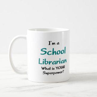 Bibliotecario de escuela taza de café