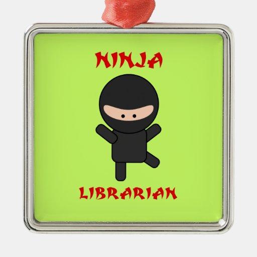 Bibliotecario de Ninja Adornos