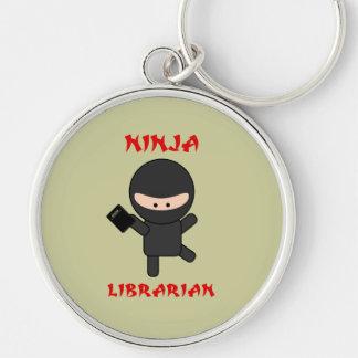 Bibliotecario de Ninja con el libro Llavero Personalizado
