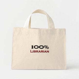 Bibliotecario del 100 por ciento bolsa de mano