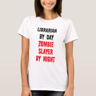 Bibliotecario del asesino del zombi del día por playera