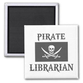 Bibliotecario del pirata iman de nevera