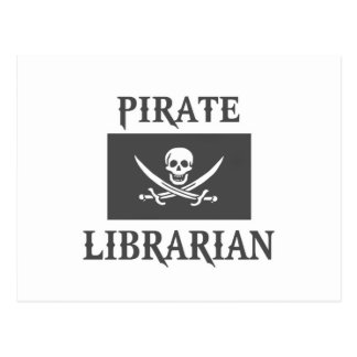 Bibliotecario del pirata tarjetas postales