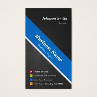 Bibliotecario - el doble superior echó a un lado tarjeta de negocios