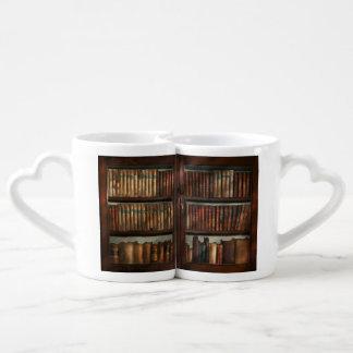 Bibliotecario - en la biblioteca set de tazas de café