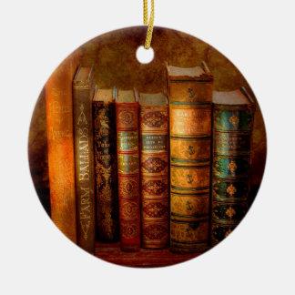 Bibliotecario - escritor - libros anticuarios adorno