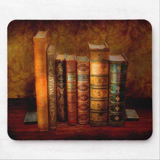 Bibliotecario - escritor - libros anticuarios tapete de ratón