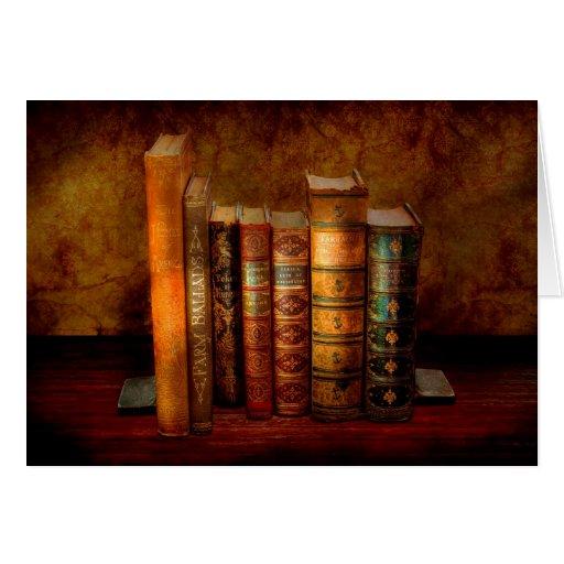 Bibliotecario - escritor - libros anticuarios tarjeta de felicitación
