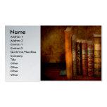 Bibliotecario - escritor - libros anticuarios plantilla de tarjeta de negocio