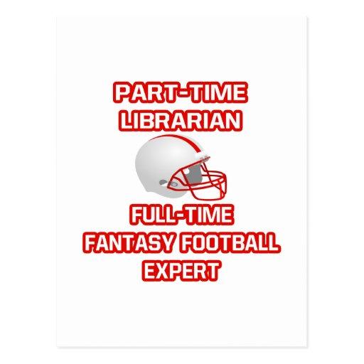 Bibliotecario. Experto del fútbol de la fantasía Tarjetas Postales