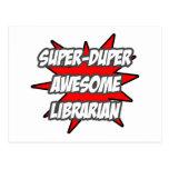 Bibliotecario impresionante estupendo de Duper Tarjetas Postales