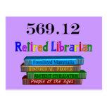 Bibliotecario jubilado 569,0 (sistema decimal de D Tarjetas Postales