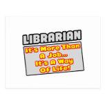 Bibliotecario… más que el trabajo, manera de vida tarjeta postal