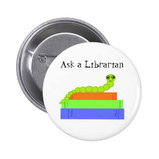 Bibliotecario Pin Redondo De 2 Pulgadas