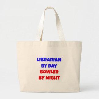 Bibliotecario por el jugador de bolos del día por  bolsa tela grande