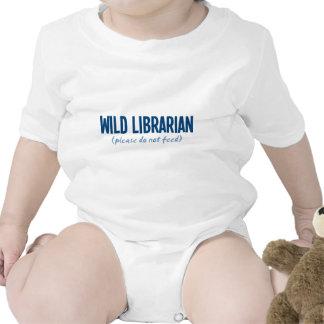 Bibliotecario salvaje - no alimente por favor traje de bebé