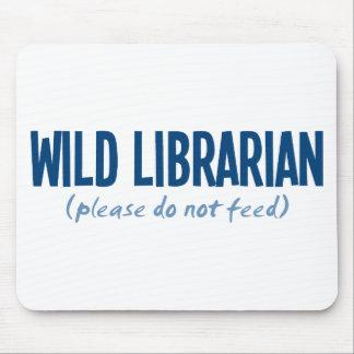 Bibliotecario salvaje - no alimente por favor alfombrilla de raton