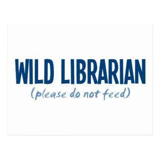 Bibliotecario salvaje - no alimente por favor postal