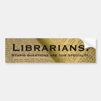 Bibliotecarios Pegatina Para Auto