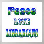 Bibliotecarios del amor de la paz impresiones