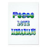 Bibliotecarios del amor de la paz comunicados personalizados