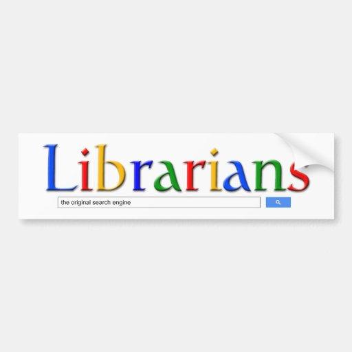 bibliotecarios el Search Engine original Pegatina Para Auto