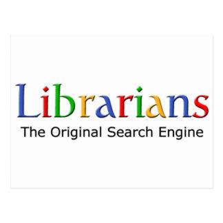 Bibliotecarios - el Search Engine original Postales
