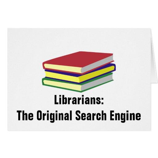 Bibliotecarios originales tarjeta de felicitación