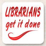 Bibliotecarios Posavasos De Bebida