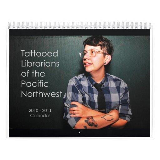 Bibliotecarios tatuados del noroeste pacífico calendario