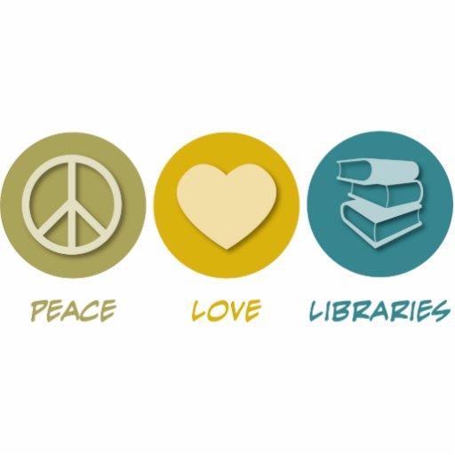 Bibliotecas del amor de la paz adorno fotoescultura