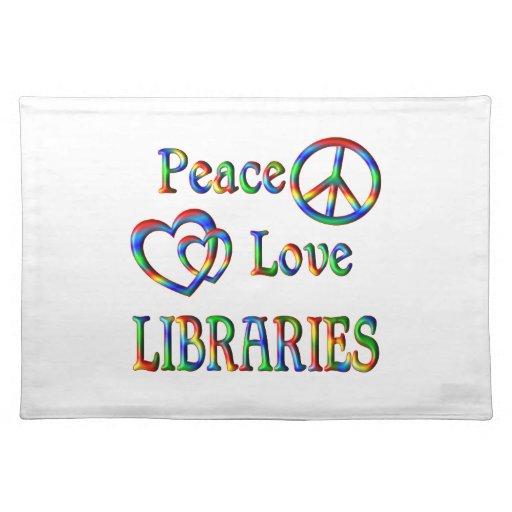 BIBLIOTECAS del amor de la paz Manteles
