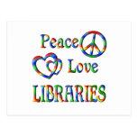 BIBLIOTECAS del amor de la paz Postal