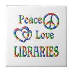 BIBLIOTECAS del amor de la paz Tejas Cerámicas