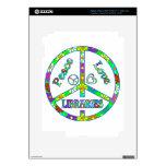 Bibliotecas del signo de la paz pegatina skin para iPad 3