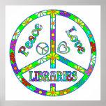 Bibliotecas del signo de la paz poster