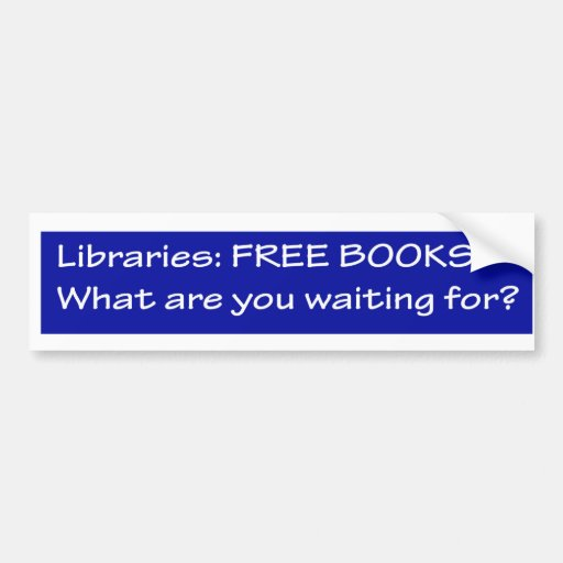 Bibliotecas: freebooks etiqueta de parachoque